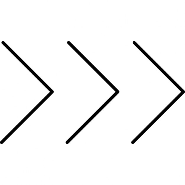 Three Chevron Arrows Pointing Right Icons Free Download