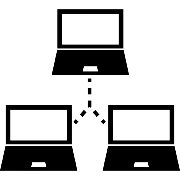 Three Computers Educational Network Symbol Icons Free Download