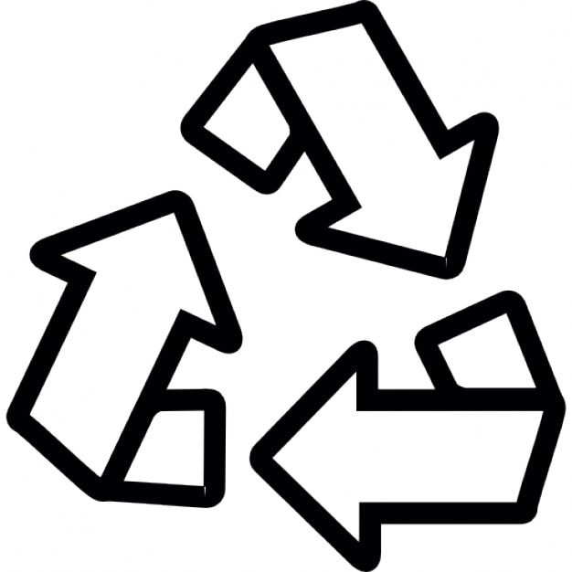 Three Curved Arrows Resembling Recycling Symbol Icons Free Download