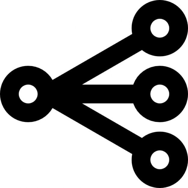 Three Line Segments With Vertex Icons Free Download