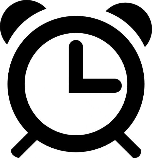 Three o clock alarm Free Icon