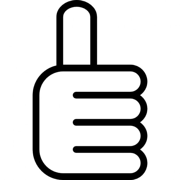 Thumb Up Hand Outline Interface Symbol Icons Free Download