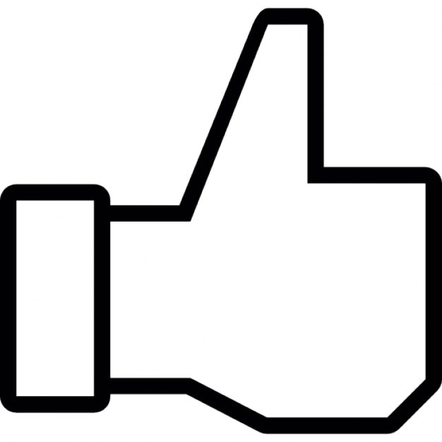 Thumb Up Outline Symbol For Facebook Icons Free Download