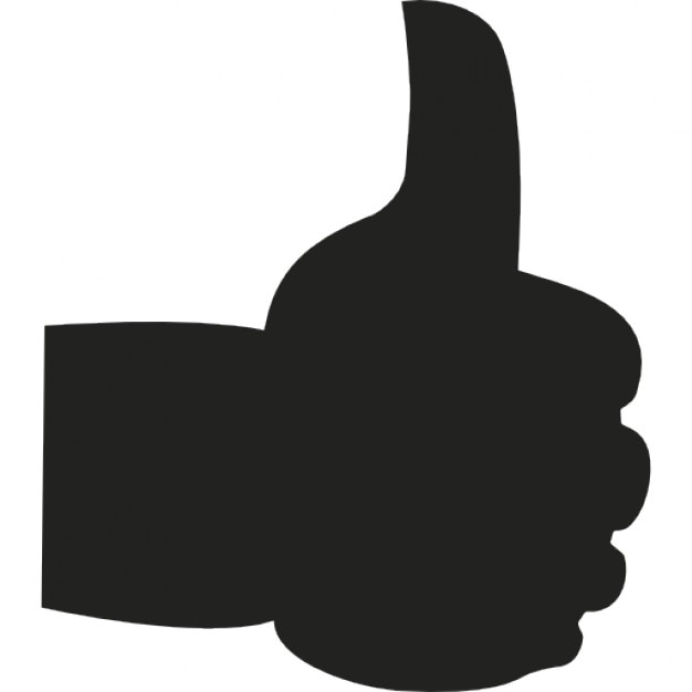 thumbs up hand symbol free gestures icons flaticon - 864×981