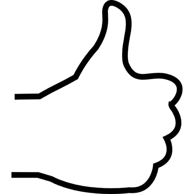 Thumbs Up Clip Art Black And White