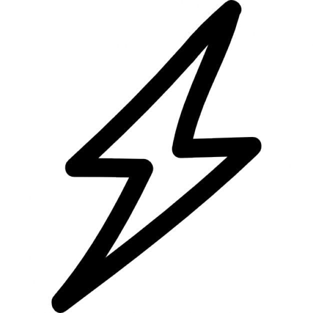 Thunder Bolt Hand Drawn Shape Outline Icons Free Download