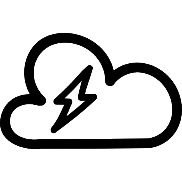 thunderstorm hand drawn weather symbol icons free download