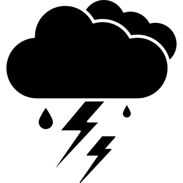 thunderstorm ios 7 interface symbol for weather icons