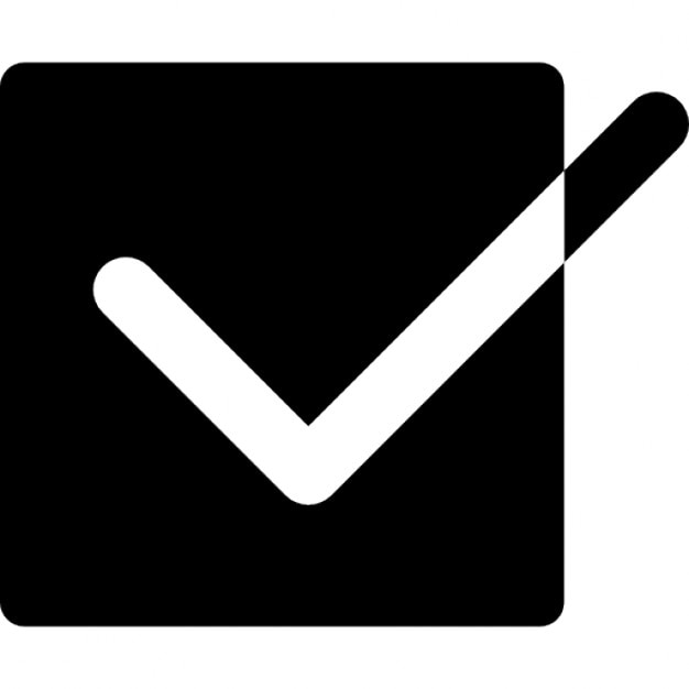 Tick Box With A Check Mark Icons Free Download