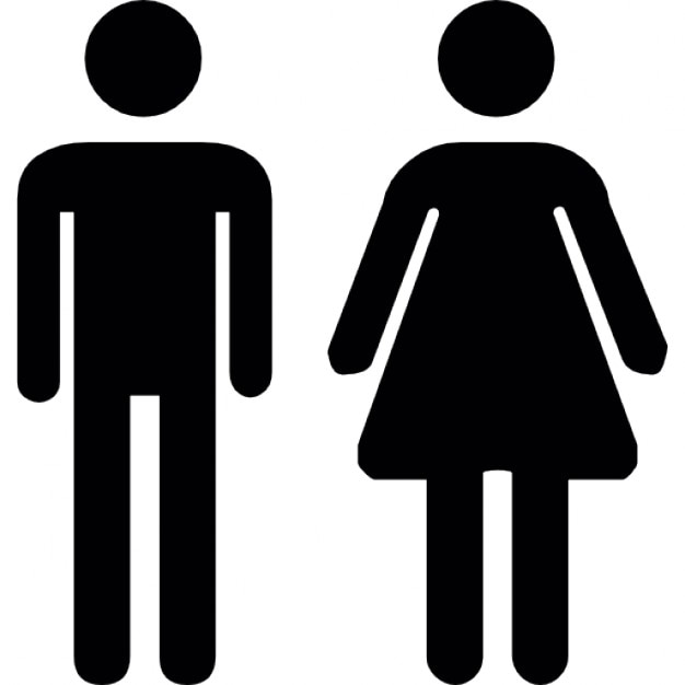 Toilet Man Women Free Icon