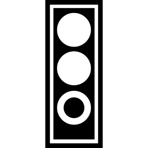 Trafficlight in green Icons   Free Download