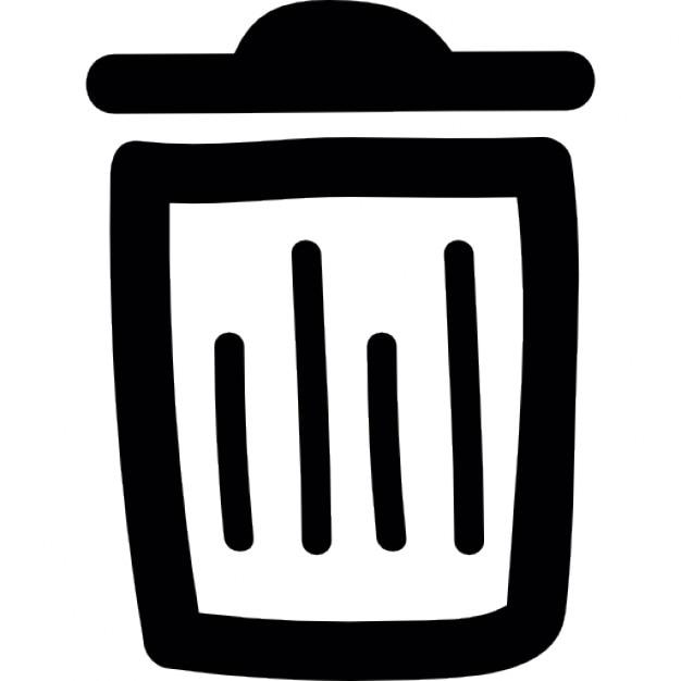 Trash Bin Doodle Outline Icons Free Download