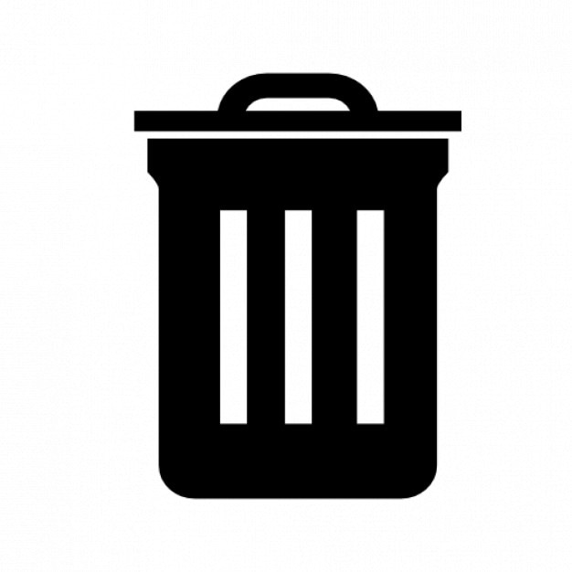 Trash bin symbol Icons | Free Download