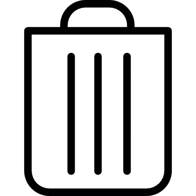 Trash Ios 7 Interface Symbol Icons Free Download