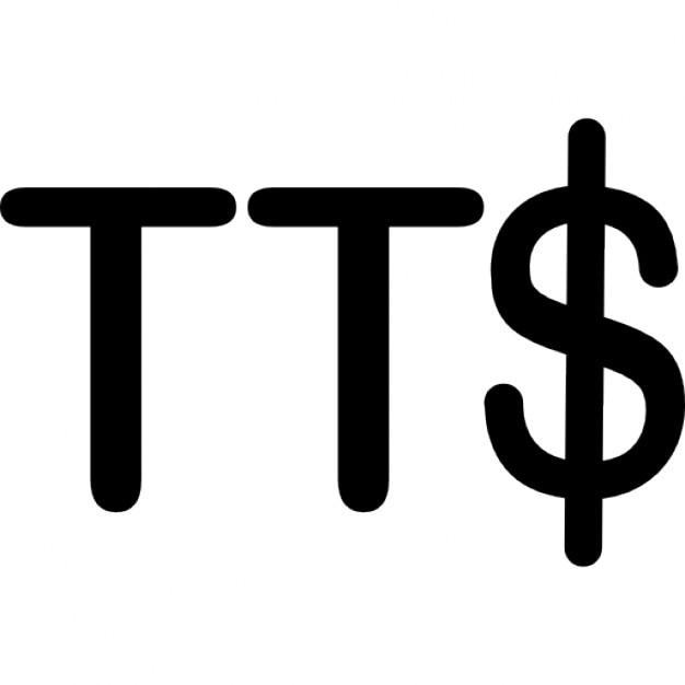 Trinidad And Tobago Dollar Currency Symbol Icons Free Download