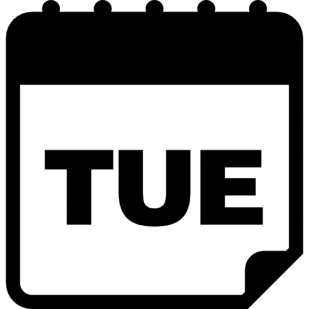 Daily Calendar Icon : Tuesday daily calendar page icons free download