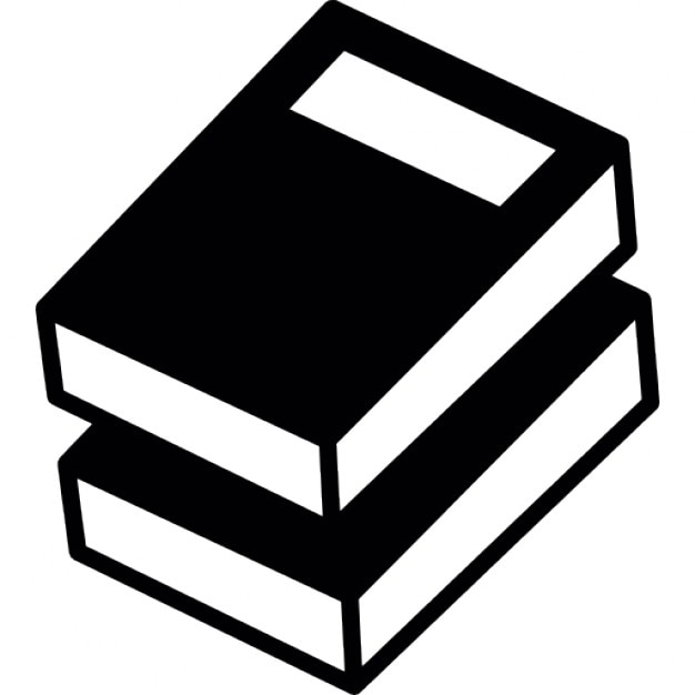 Two Black Books With White Label Free Icon