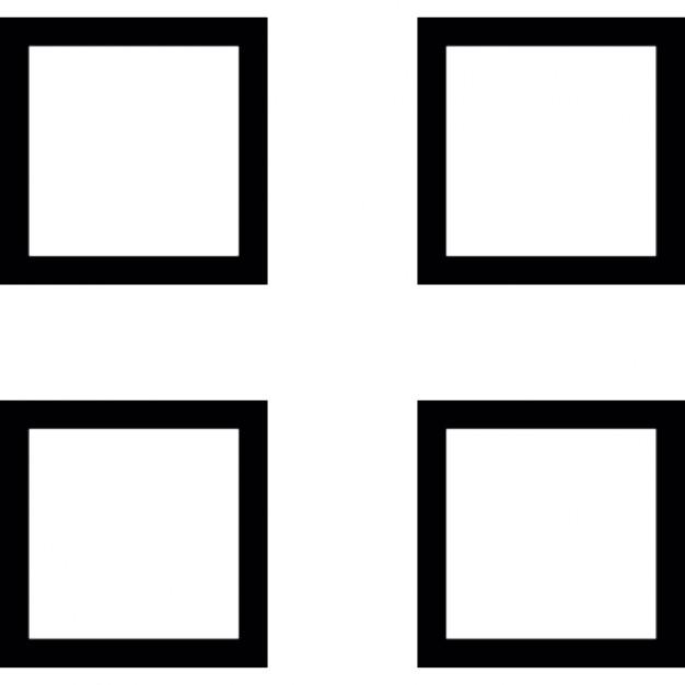 Two Column Four Squares Ios 7 Interface Symbol Icons Free Download