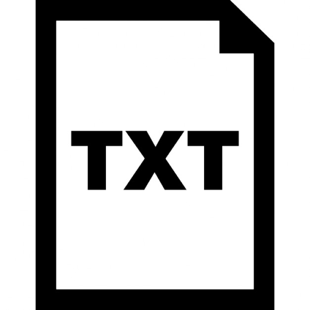 Txt document interface symbol for text files Icons | Free ...