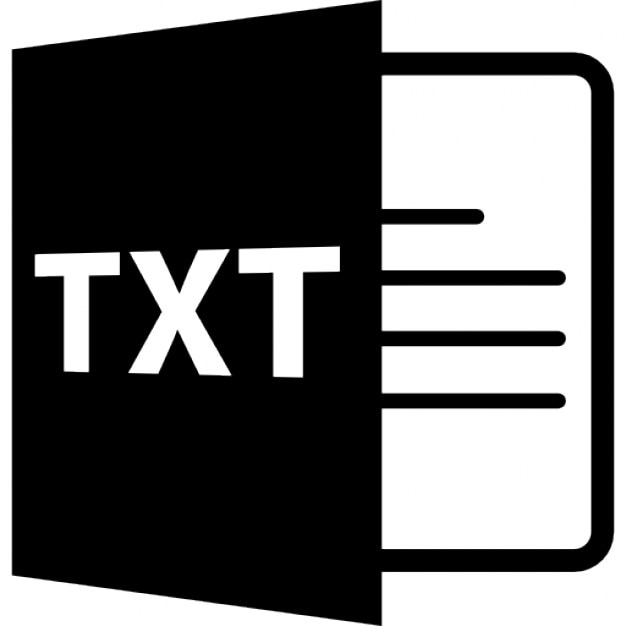 TXT open file format Icons | Free Download