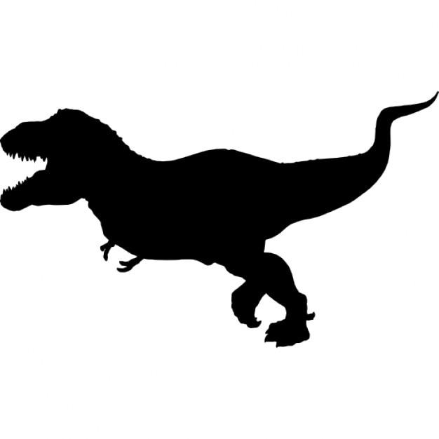 Tyrannosaurus rex silh...