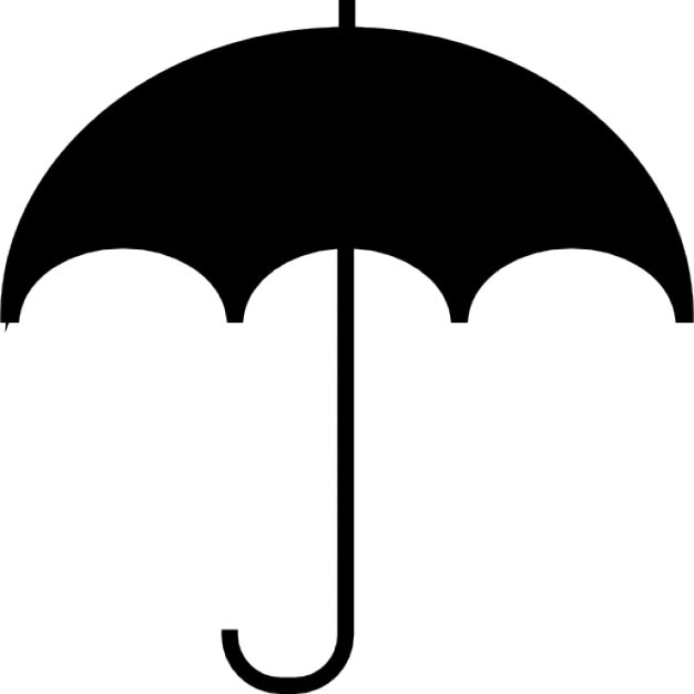 Umbrella black shape ios 7 symbol free icon