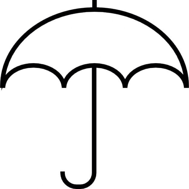 Umbrella Shape Ios 7 Symbol Icons Free Download
