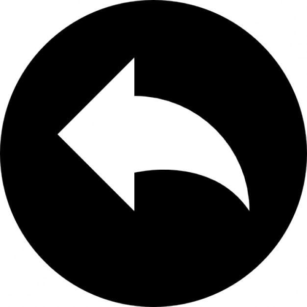 undo arrow in a black circle icons free download