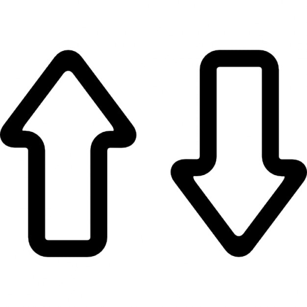 Up and down arrows outlines couple Icons | Free Download