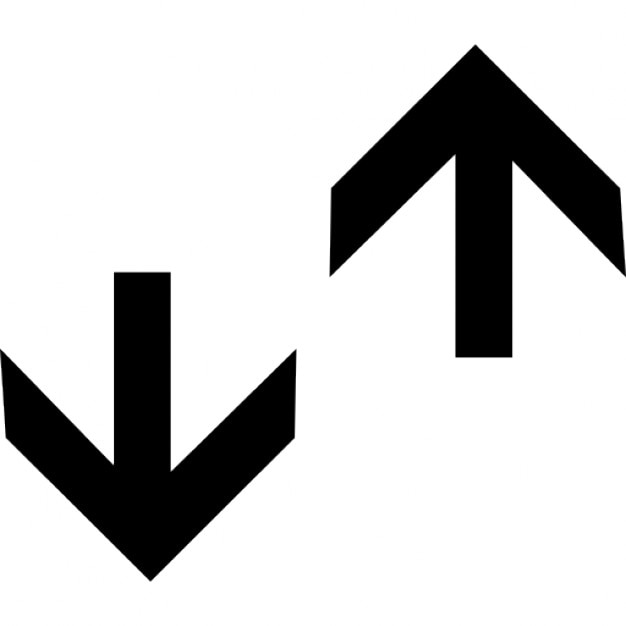 Up and down arrows Icons | Free Download