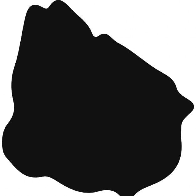 Uruguay Black Country Map Shape Icons Free Download - Uruguay map png