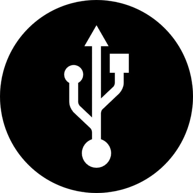 Usb Circular Interface Symbol Icons Free Download