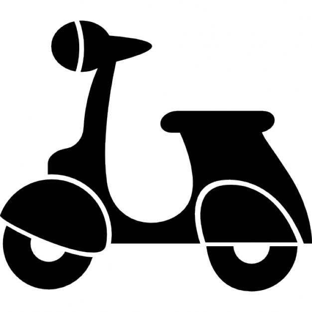 Vespa scooter silhouette Icons | Free Download