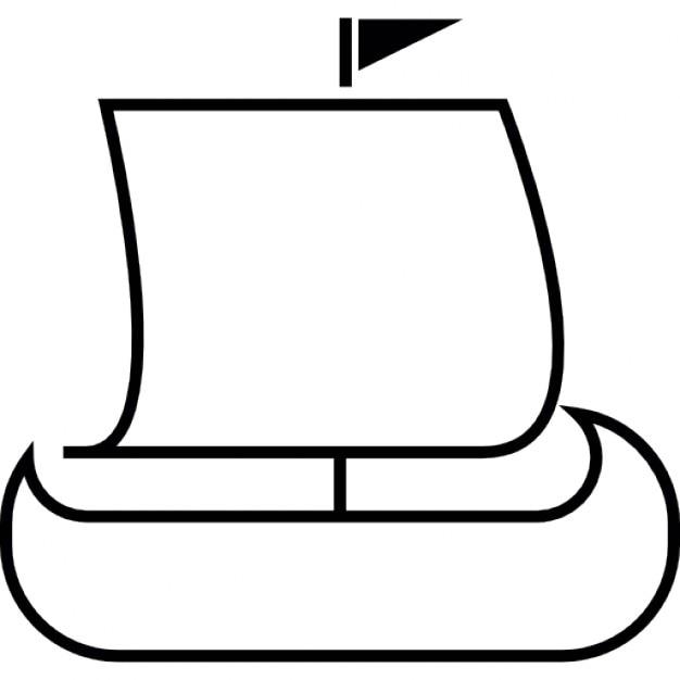 Viking ship silhouette Icons | Free Download