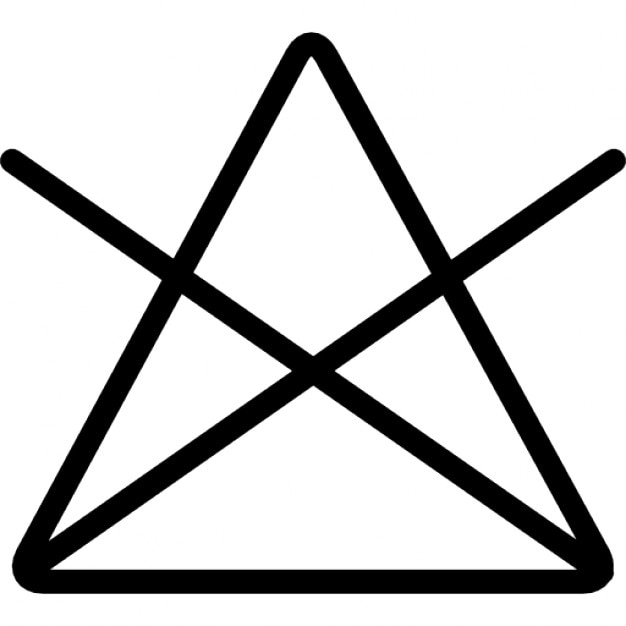 Washing Option Symbol Of A Triangle With A Cross Icons Free Download