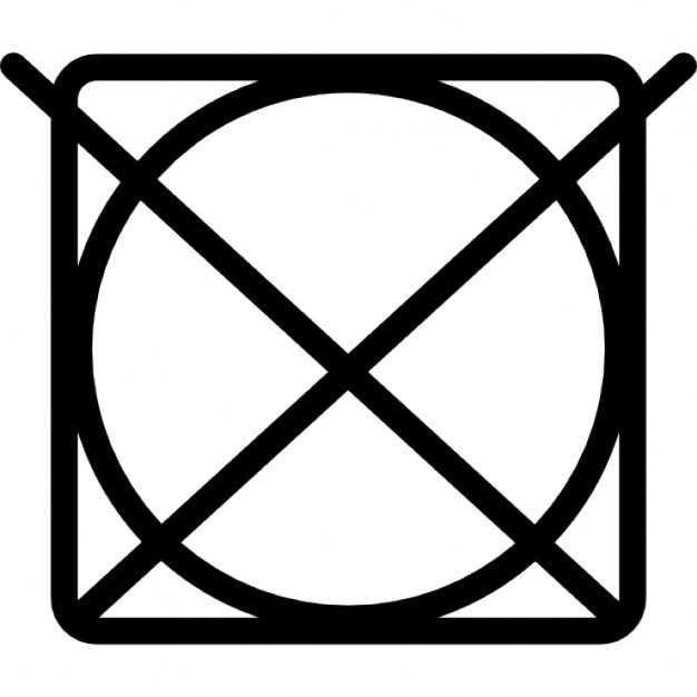 Bleaching symbols. A triangle means you can safely use a cold, dilute solution of bleach. If the triangle has two stripes, only a non-chlorine, colour-safe bleach should be used. If the triangle has a cross over it, the item can't be bleached.