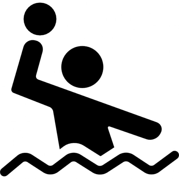 waterpolo player with the balls in the water icons free Star Clip Art Water Polo Ball Outline