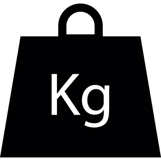 Weight In Kilogram Icons Free Download