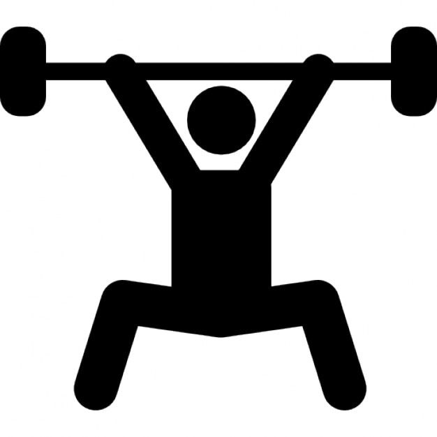weightlifting silhouette power sport free icon
