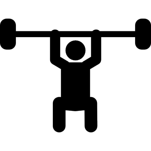 weightlifting silhouette free icon