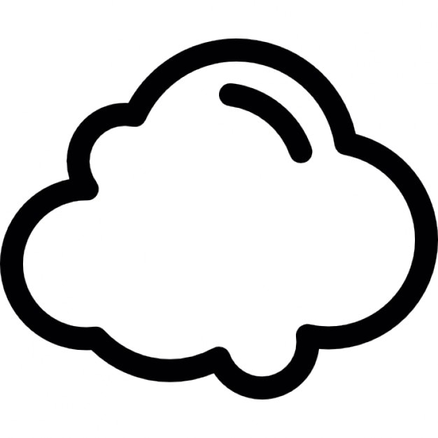 White cloud outline Icons | Free Download