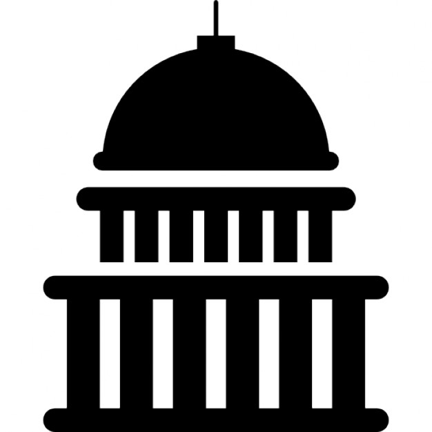 White House Logo Black And White White House Building Icons Free
