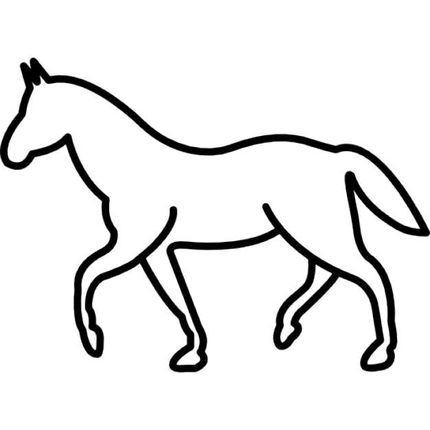 Walking Horse Outline