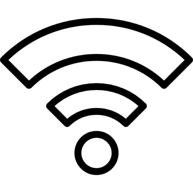 wifi outline symbol in a circle icons free download