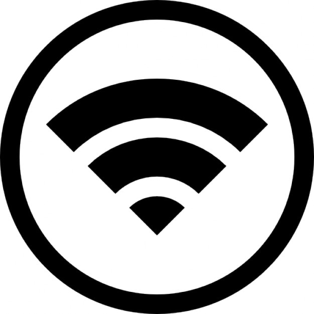 wifi symbol inside a circle icons free download