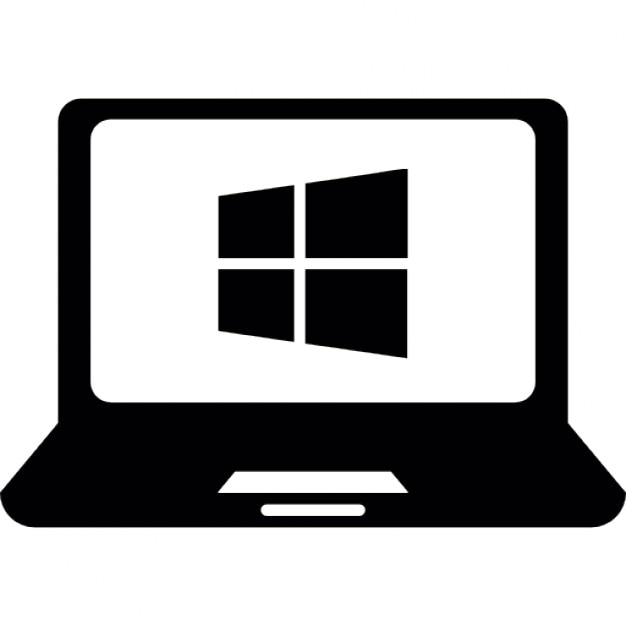 windows os on laptop computer icons free download