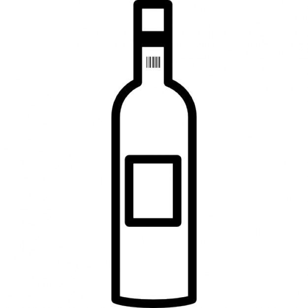 Wine bottle outline