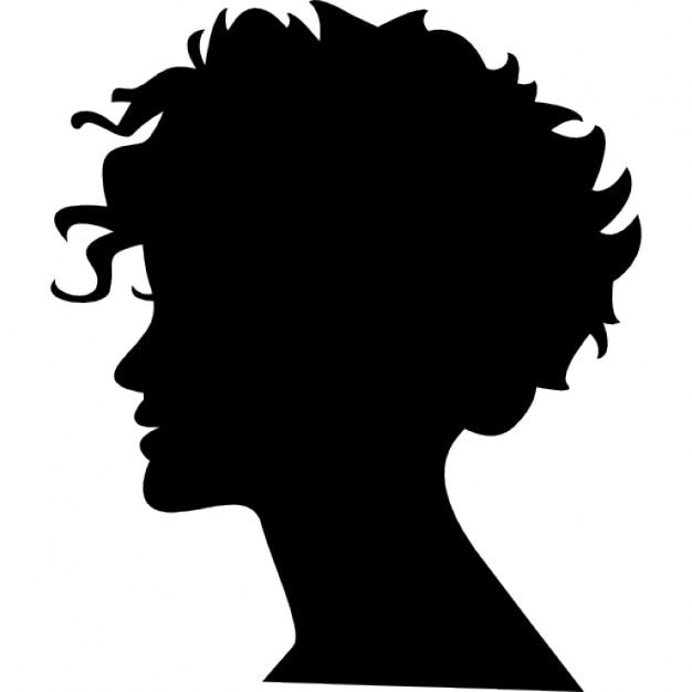 Woman head silhouette ...
