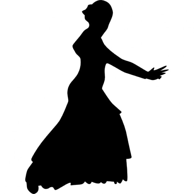 Woman silhouette with dress Icons | Free Download