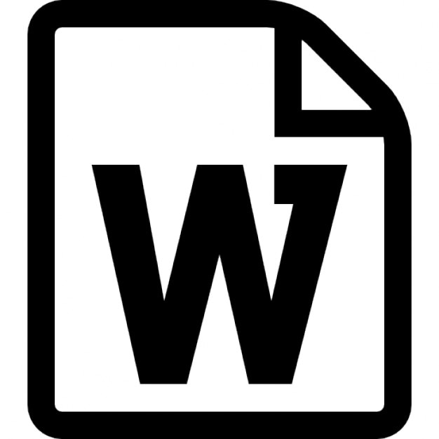 Word File Symbol Icons | Free Download